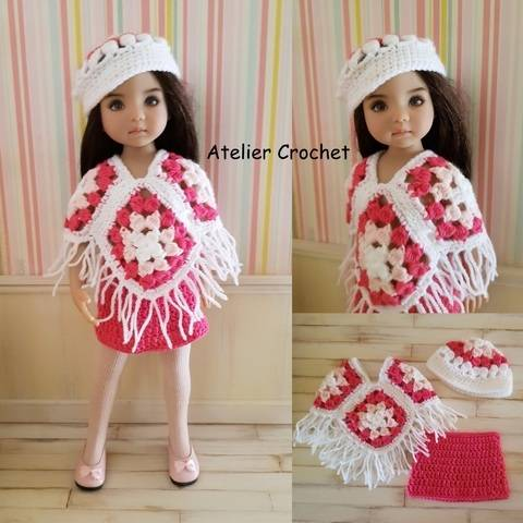 "Download ""Poncho"" crochet pattern for Little Darling immediately at Makerist"