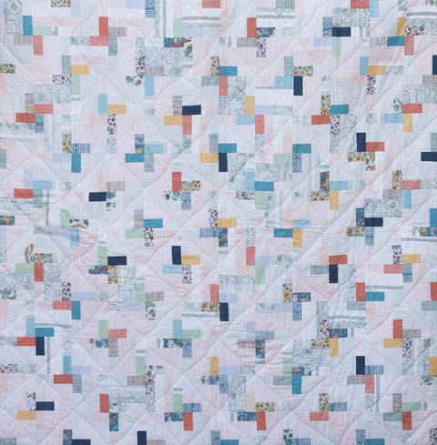 "Quilt Quiltmuster ""Coloured Pavement"" Patchworkanleitung Patchworkdecke bei Makerist sofort runterladen"