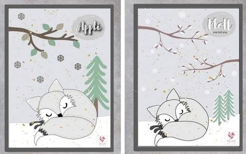 Appli-Vorlage+ Plottdesign - Wintertiere Polarfuchs Finn bei Makerist sofort runterladen