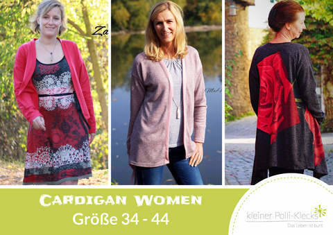 eBook • Cardigan Women • Gr. 34-44 bei Makerist sofort runterladen