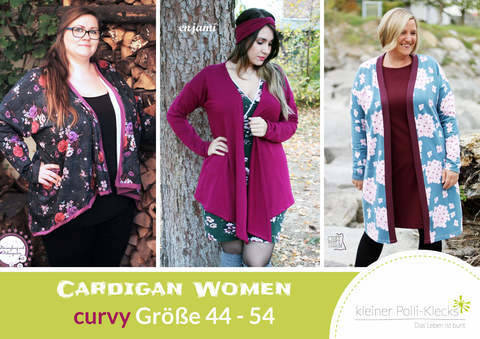 eBook • Cardigan Women • Gr. 44 - 54 bei Makerist sofort runterladen