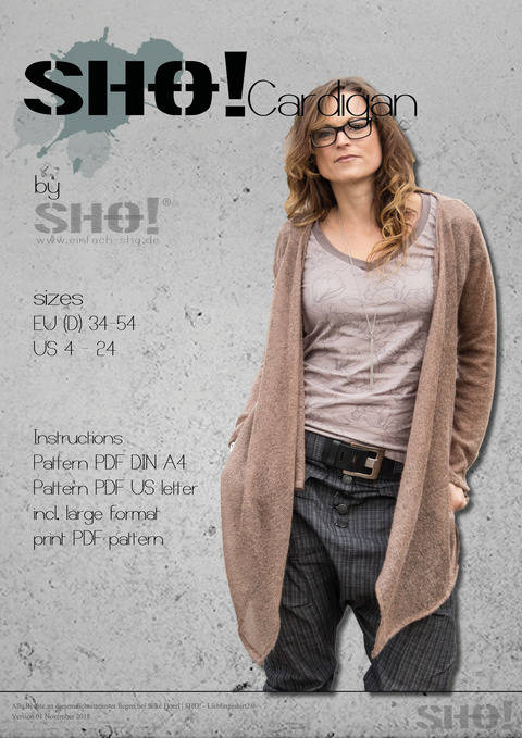 Download SHO!Cardigan - a must have basic immediately at Makerist