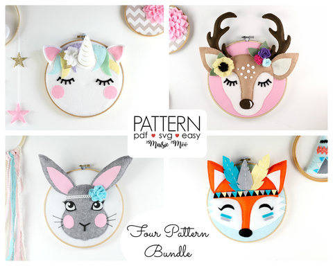 Download Embroidery Hoop Art Felt Patterns immediately at Makerist
