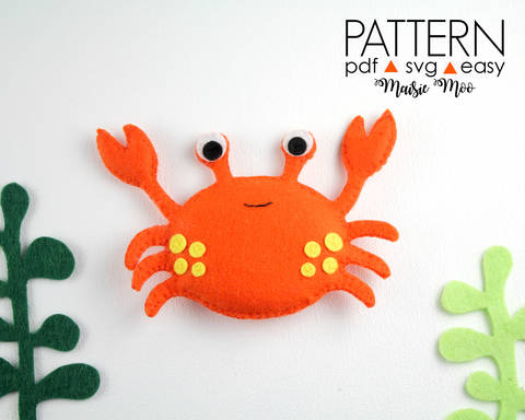 Download Crab Pattern, Felt Crab Sewing Pattern immediately at Makerist