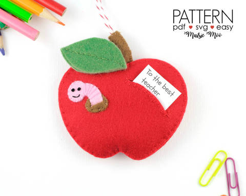 Download Teacher Gift Ornament Pattern | Apple Ornament immediately at Makerist