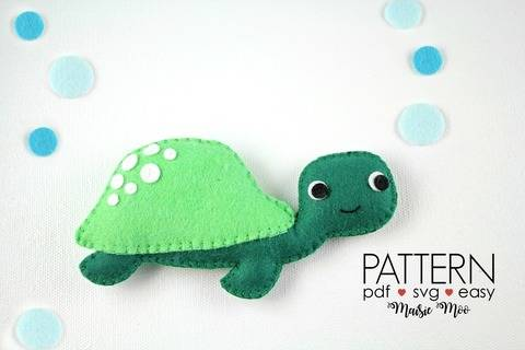 Download Felt Turtle Pattern | Sea Turtle Plush Pattern immediately at Makerist