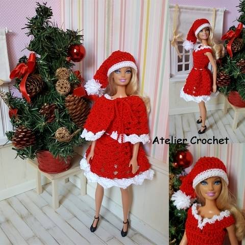 "Download ""IMerry Christmas"" crochet pattern for Barbie immediately at Makerist"