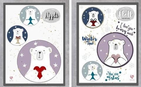 Appli-Vorlage+ Plottdesign - Wintertiere Eisbär Eric bei Makerist sofort runterladen