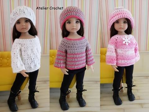 """Download """"Pullovers"""" crochet pattern for Little Darling immediately at Makerist"""