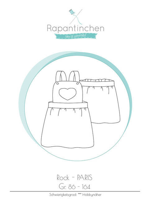 Ebook Latzrock PARIS mit Nähanleitung und Schnitt bei Makerist sofort runterladen