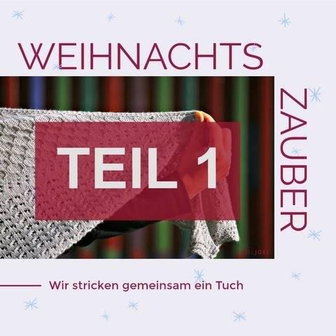 """Strickanleitung Tuch """"Weihnachtszauber"""" - TEIL 1 bei Makerist sofort runterladen"""