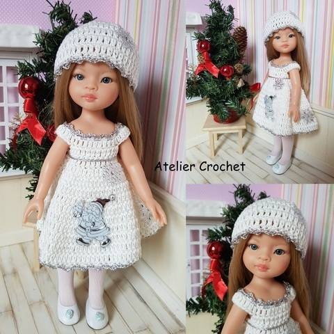 """Download """"White Christmas"""" crochet pattern for Paola Reina immediately at Makerist"""