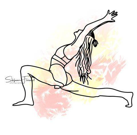 PLOTTERVORLAGE • Crescent Lunge • Yoga • PLOTTERDATEI bei Makerist sofort runterladen