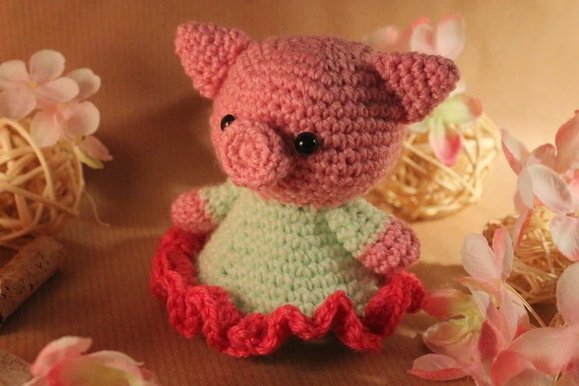 """Häkelanleitung """"Schweinchen Rosalie"""" - Häkelanleitungen bei Makerist sofort runterladen"""