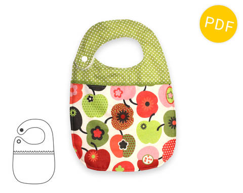 Download Baby bib - sewing pattern and tutorial - baby toddler - PDF immediately at Makerist