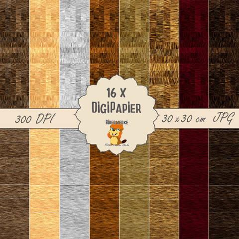 DigiPapier Holzpaket 2 bei Makerist sofort runterladen