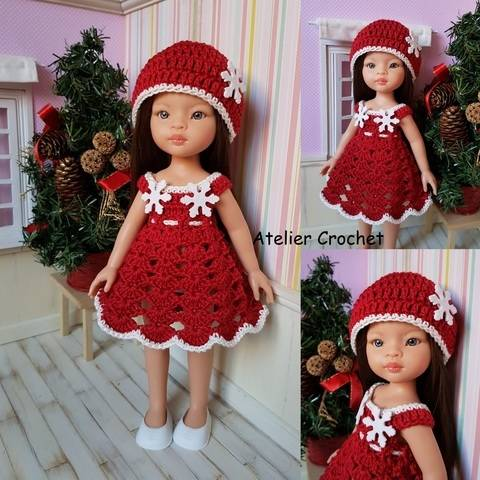 """Download """"Christmas outfit"""" crochet pattern for Paola Reina immediately at Makerist"""