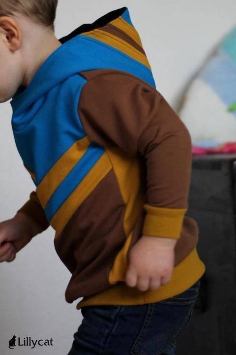 """eBook Hoodie """"Mini Mister Hood"""" von Lennähna Größen 86 - 176 bei Makerist sofort runterladen"""