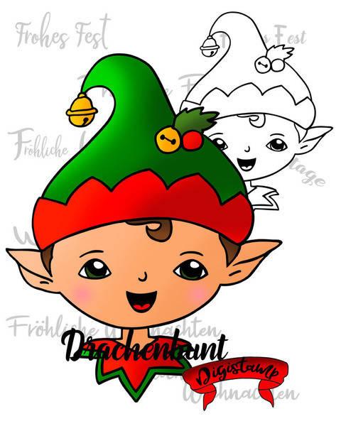 Digistamp Printable Weihnachtself Weihnachten Winter Elf bei Makerist sofort runterladen