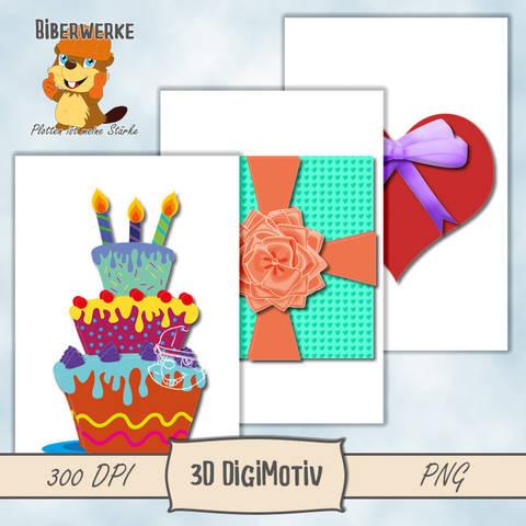 3D DigiMotiv Geburtstagspaket bei Makerist sofort runterladen