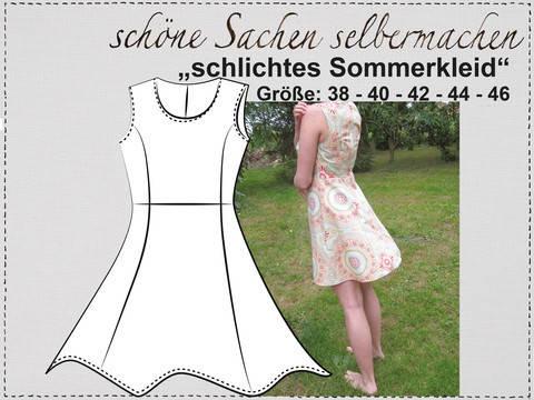 """Sommerkleid"", Gr.38-46 bei Makerist sofort runterladen"