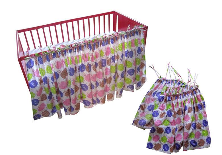 """""""Vorhang fürs Babybett"""" - Nähanleitungen bei Makerist sofort runterladen"""