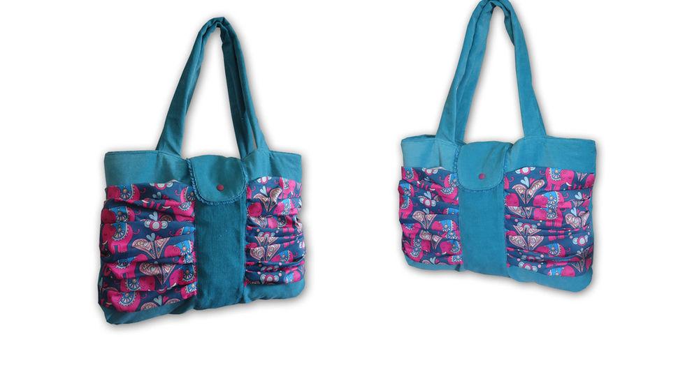 Nähanleitung Raffinierte Shoppingtasche Aura  - Nähanleitungen bei Makerist sofort runterladen