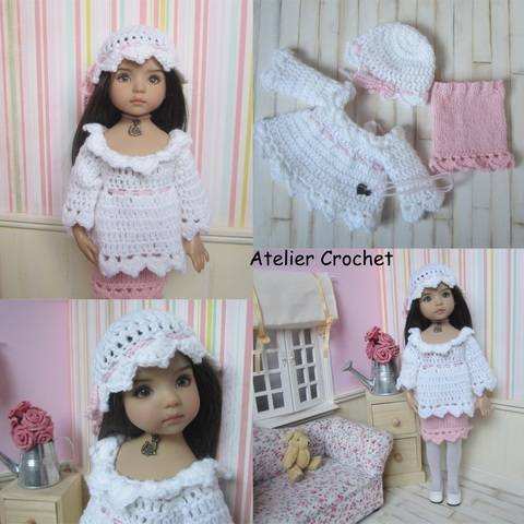 """Download """"Tea Rose"""" crochet and knit pattern for Little Darling immediately at Makerist"""