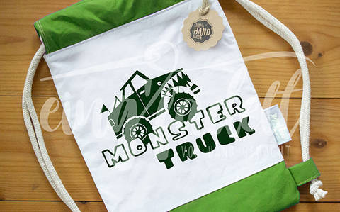"Plotterdatei ""MONSTER TRUCK"", SVG-/DXF-Format bei Makerist sofort runterladen"
