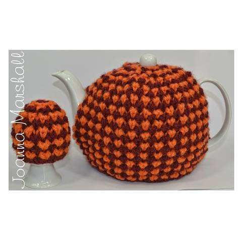 Download Twisted Tweed Teapot Cozy & Egg Cozy immediately at Makerist