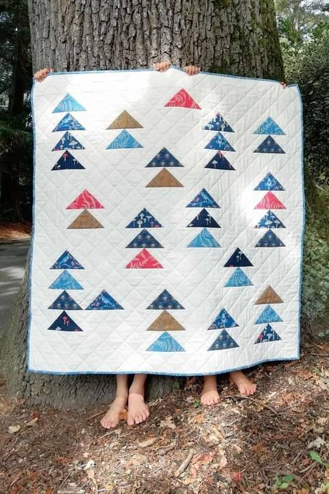Download Forest Arrows Quilt immediately at Makerist