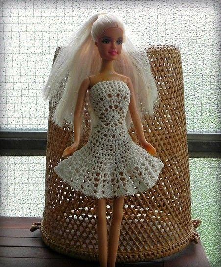 Häkelanleitung Barbie Kleid Mandala in weis bei Makerist sofort runterladen