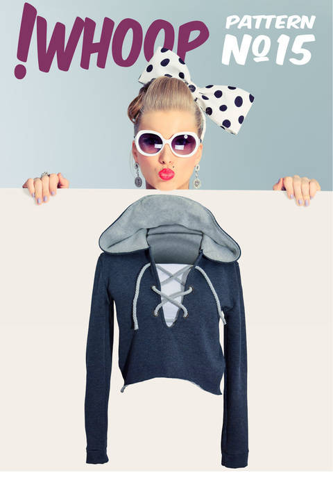 Download !WHOOP NO 15 HOODIE PATTERN SIZES 32-46 immediately at Makerist