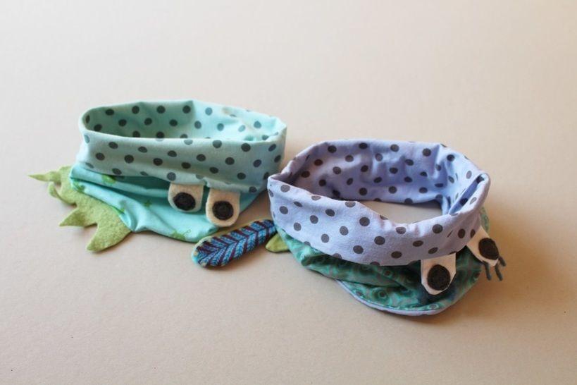 Nähanleitung  Loop  für Kinder MONSTER oder BIRDY - Nähanleitungen bei Makerist sofort runterladen