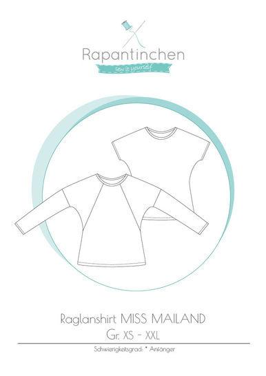 Ebook Raglanshirt MISS MAILAND mit Nähanleitung und Schnitt - Nähanleitungen bei Makerist sofort runterladen