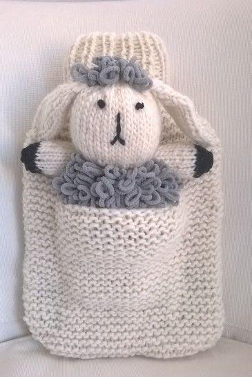 Wärmflaschenbezug mit Schaf Wilma - Strickanleitungen bei Makerist sofort runterladen