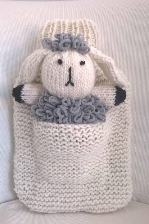 Wärmflaschenbezug mit Schaf Wilma bei Makerist sofort runterladen