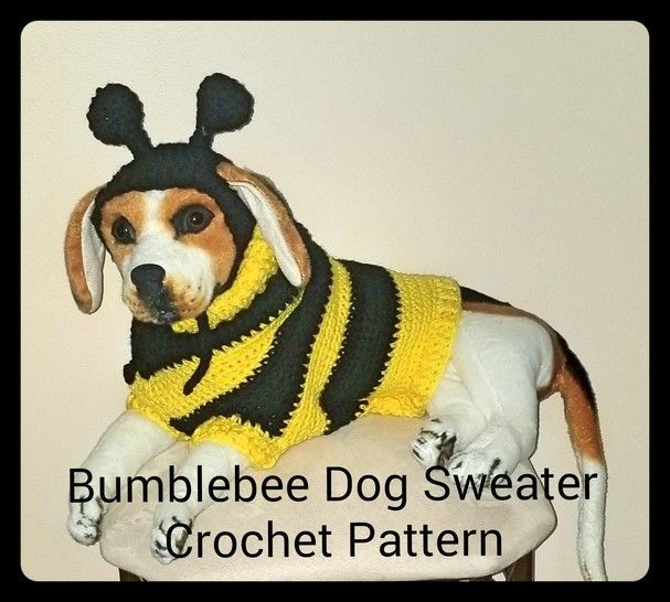 Download Bumblebee Dog Sweater and Hat Crochet Pattern immediately at  Makerist a7655805fed