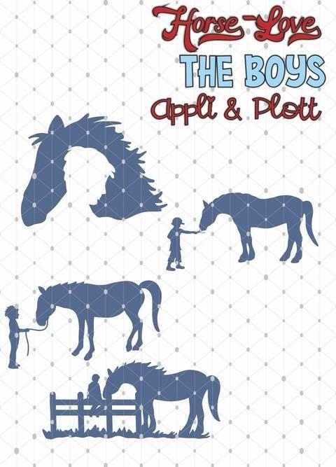 HorseLove  Reiten Pferd 4 APPLI MOTIVE Junge + BONUSDEKO bei Makerist sofort runterladen