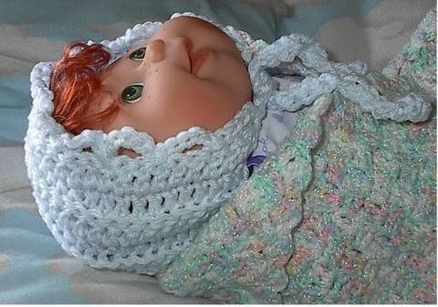 Download 30 Minute Crocheted Baby Bonnet Pattern immediately at Makerist