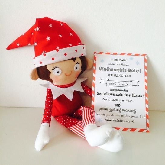 Ebook Kleiner Weihnachts-Bote Wichtel Elf - Nähanleitungen bei Makerist sofort runterladen