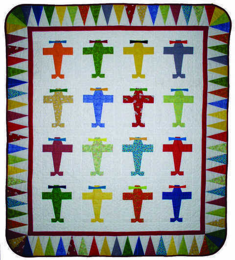 Download Fly Boy Baby PDF Quilt Pattern immediately at Makerist