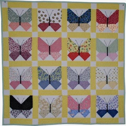 Download Retro Butterfly PDF Quilt Pattern immediately at Makerist