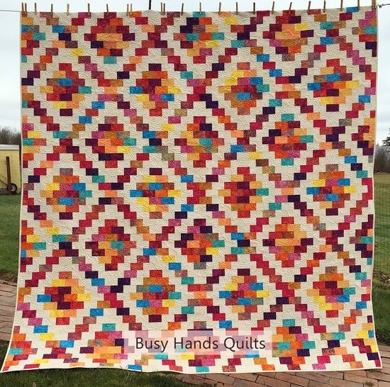 Download Brick Cottage Lane {2} Quilt Pattern 5 Sizes Baby to King immediately at Makerist