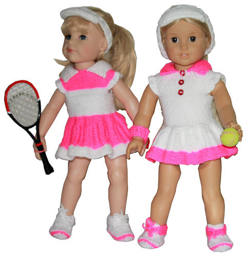 Download Summer dress - Tennis Fun for 18'' Doll knitting Pattern immediately at Makerist