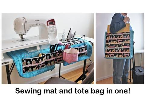 Download Sewing machine mat and tote bag organizer pattern immediately at Makerist