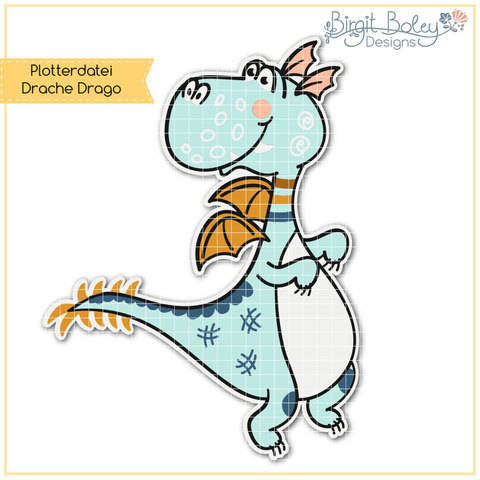 Birgit Boley Designs • Drache Drago bei Makerist sofort runterladen
