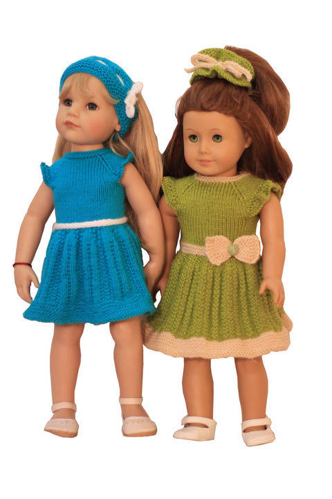 Download   Summer - Fun Dresses  - doll knitting pattern  immediately at Makerist