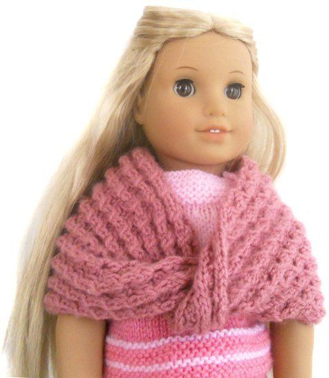 Download Winter - Cozy Infinity Shawl - dolls knitting pattern  immediately at Makerist