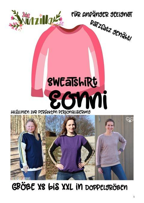 Eonni easy Damen Sweatshirt * Ebook bei Makerist sofort runterladen